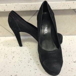Black Chanel Pumps Size 7